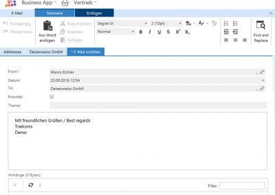 Legen Sie wichtige E-Mails mit der 1 Klick Technologie direkt aus Ihrem Outlook in der Anwendung ab
