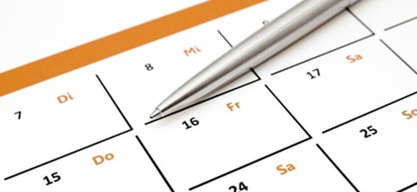 Wir stellen vor: Kalenderfunktion